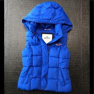 Royal Blue Hollister Puffer Vest